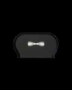 Dispenser Zwart Wc Papier TWIN Mini Jumbo 773